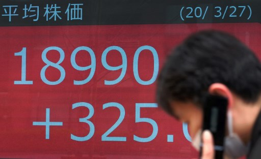 The Nikkei 225 index closed up slightly to 23,475.53 points on September 16 trading day.  Photo: AFP