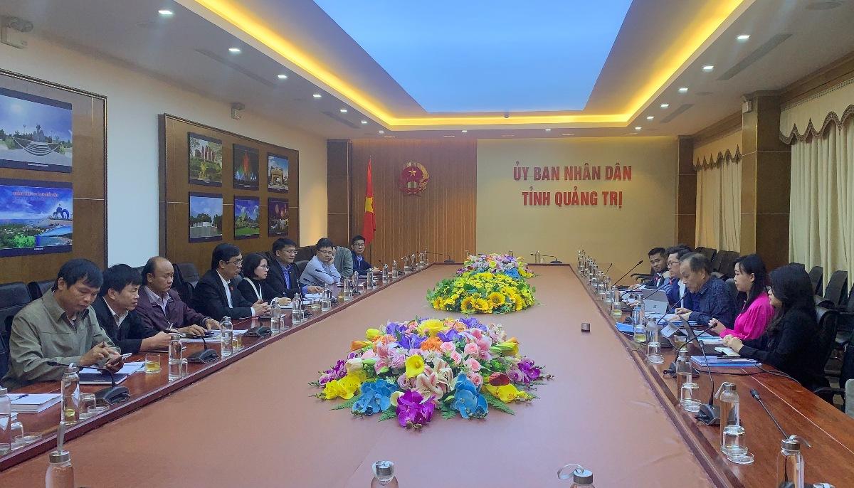 UBND tỉnh Quảng Trị vừa làm việc với Tập đoàn CPG Consultants PTE Ltd (Singapore).