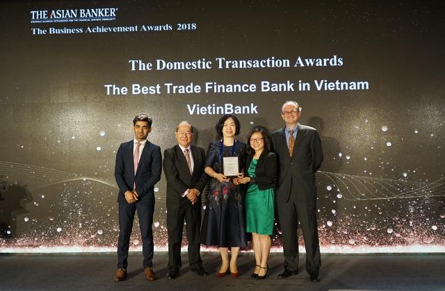 2-Lần thứ hai liên tiếp VietinBank được vinh danh là ngân hàng Tài trợ thương mại tốt nhất Việt Nam