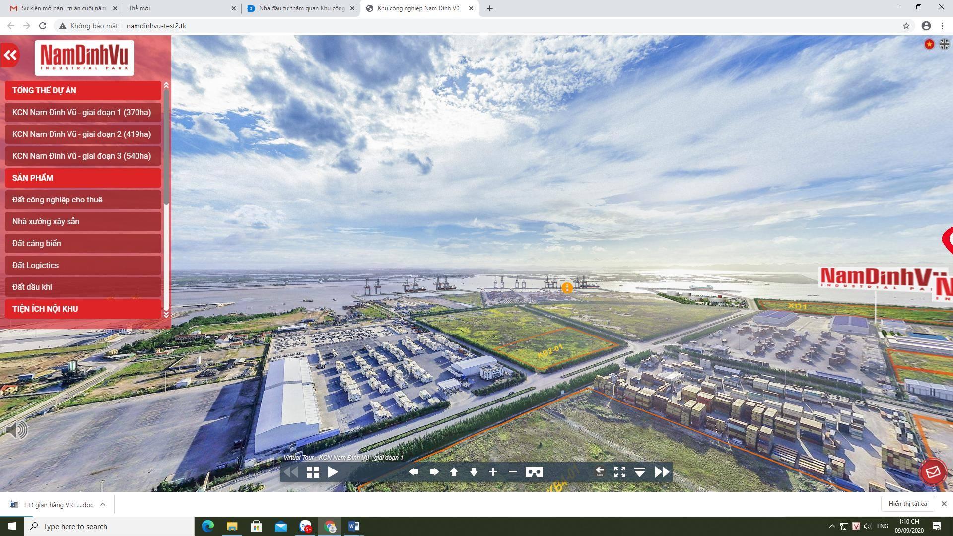 Công nghệ thực tế ảo giúp nhà đầu tư có thể thăm quan Khu công nghiệp Nam Đình Vũ từ bất cứ đâu