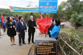 Bắc Kạn: Khánh thành cầu tràn Bản Tý do Tập đoàn Tân Hoàng Minh tài trợ
